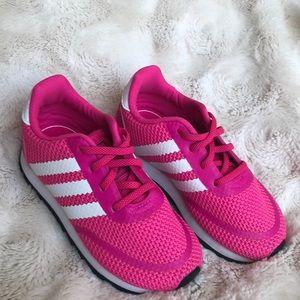 ❤️❤️ Adidas Original Retro Hot Pink/White EUC
